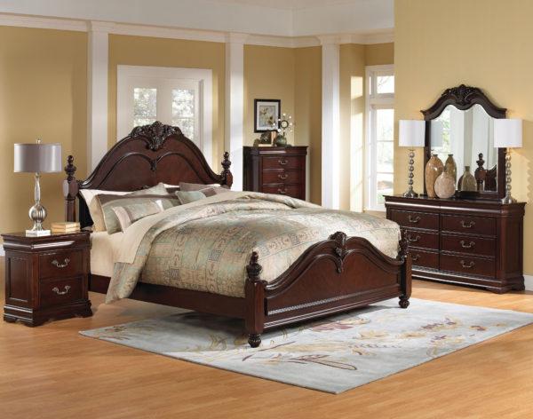 оригинальная кровать в интерьере спальни