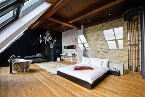 чердачное помещение под спальню