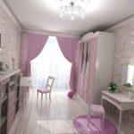 светлая детская спальня