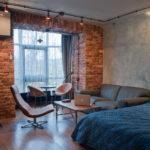 дизайн спальни в классическом стиле лофт