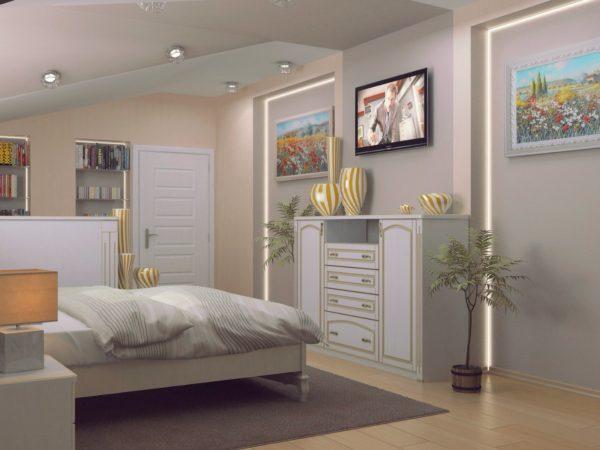 дизайнерский комод в спальне