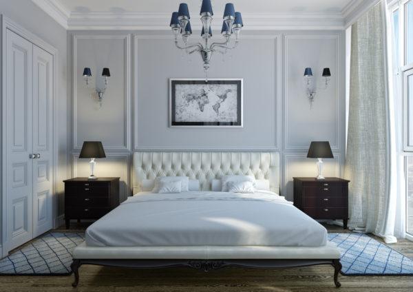 обои в спальню стиль классический