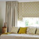 необычный дизайн штор в спальню