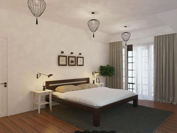 необычный скандинавском стиль в спальне