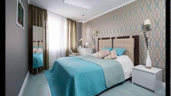 современное оформление маленькой спальни