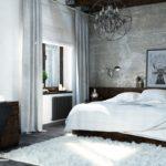 стиль лофт комната спальня