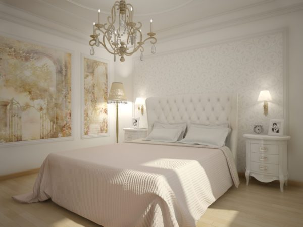 современный интерьер маленькой спальни