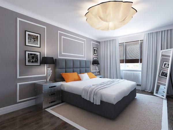 современное оформление спальни