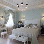 оформление обоев для спальни