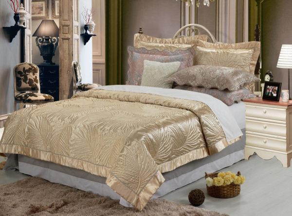 фото красивого покрывала на кровать в спальню