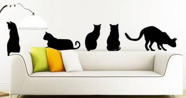 трафарет кошек