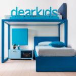 голубой чердак кровать