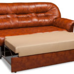 кожаный диван-кровать с ортопедическим матрасом