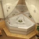 Необычная угловая ванна
