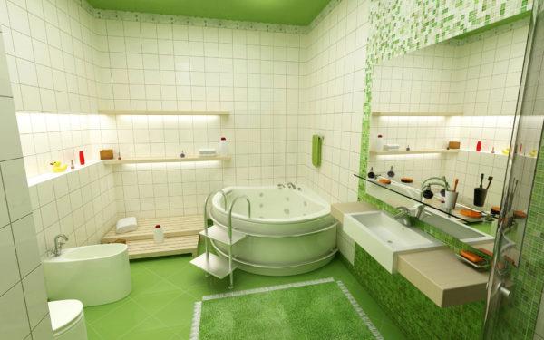 стильная угловая ванна