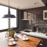 оснащение кухни в стиле лофт