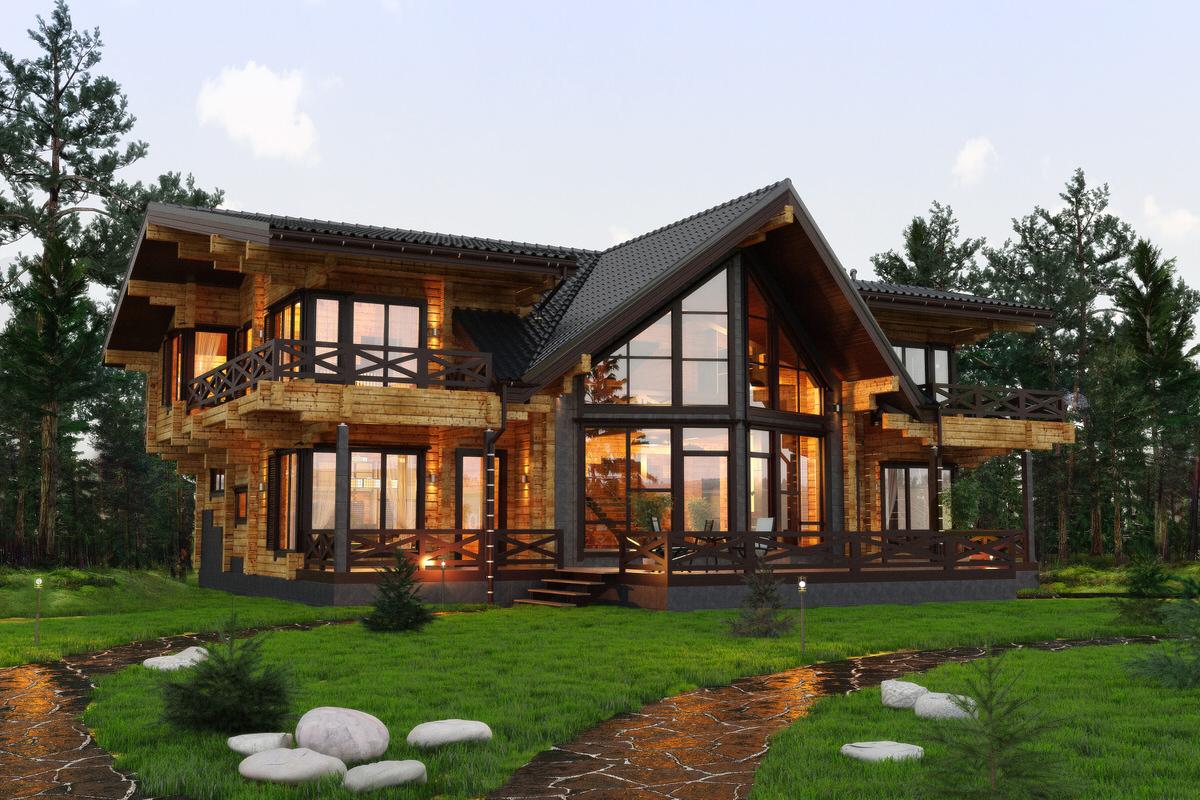 деревянные эксклюзивные дома из бруса фото предупредил
