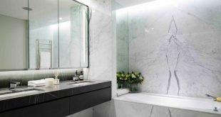 Белый мрамор в ванной комнате, с чем сочетать