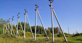 Деревянные и железобетонные опоры для линий электропередачи