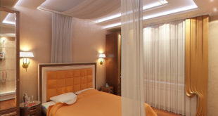 подвесные потолки из гипсокартона в спальне