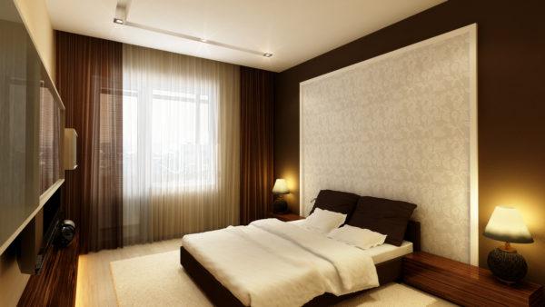 спальня в строгом стиле