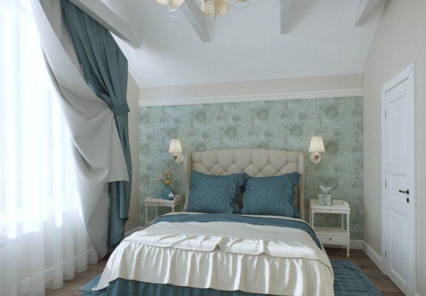 белая спальня в стиле прованс с декором