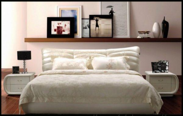 красивый необычный дизайн кровати в спальню
