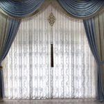 большие шторы с узором