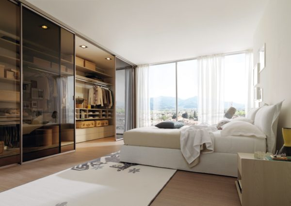 фото декорирования гардеробной в спальне
