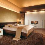 декорирование интерьера спальни в стиле модерн