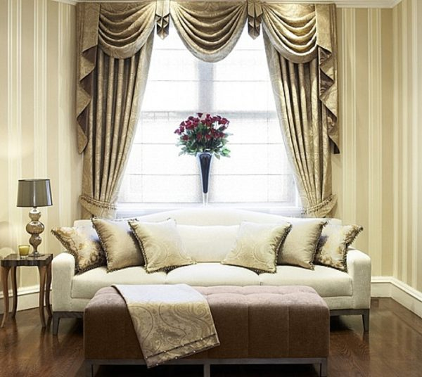 декорирование штор в спальню