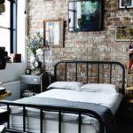 декорирование спальни в стиле лофт