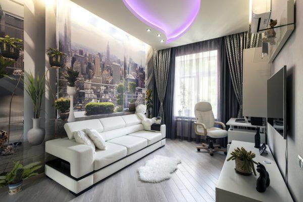 декорирование в стиле хай-тек в спальне