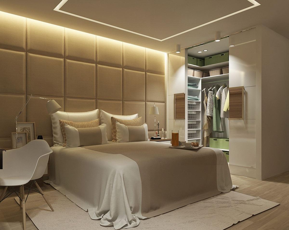 Спальни с гардеробной дизайн
