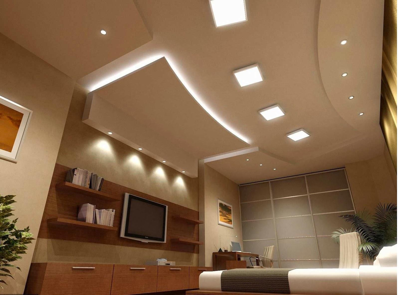 Из гипсокартона фото дизайн потолков интерьера на кухне