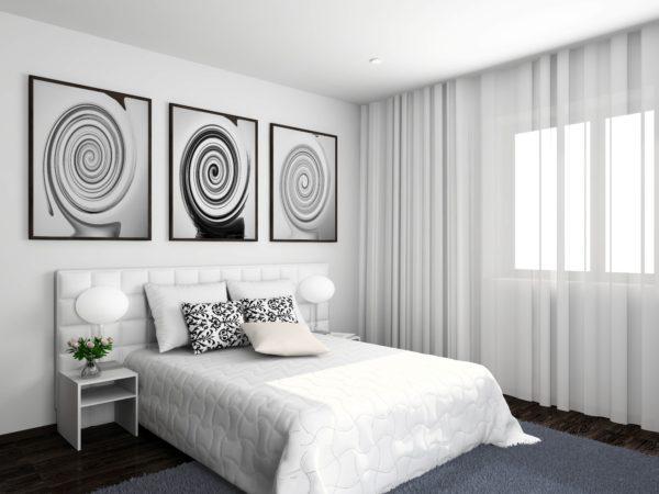 дизайн спален в белых тонах