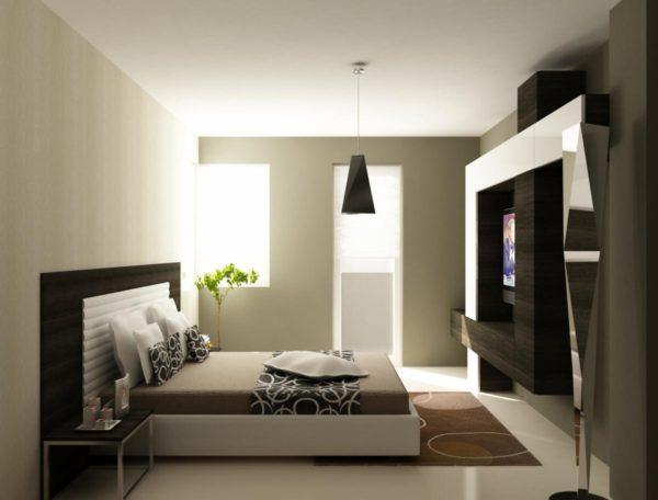 дизайн спальни хай-тек