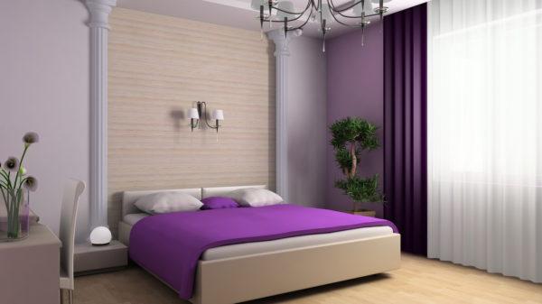 экзотический вариант обоев в спальню