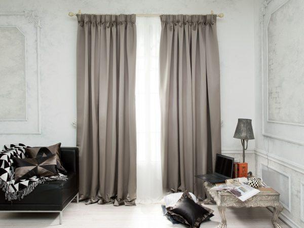 фото штор для спальни из тафты