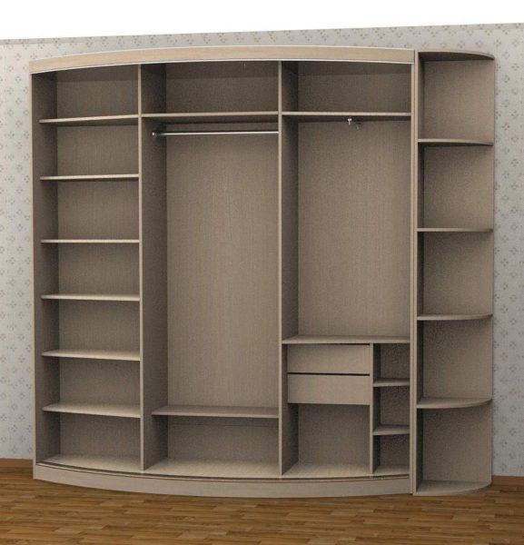 фото внутренней отделки шкафа-купе