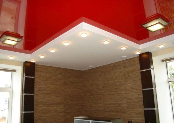 фото разновидности конструкций для натяжного потолка