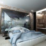 фотообои для спальни в стиле лофт