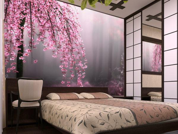 фотообои с изображением сакуры
