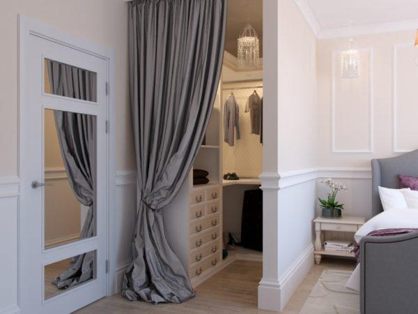 гардеробная в спальне классик