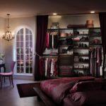 гардеробная за занавесками для спальни