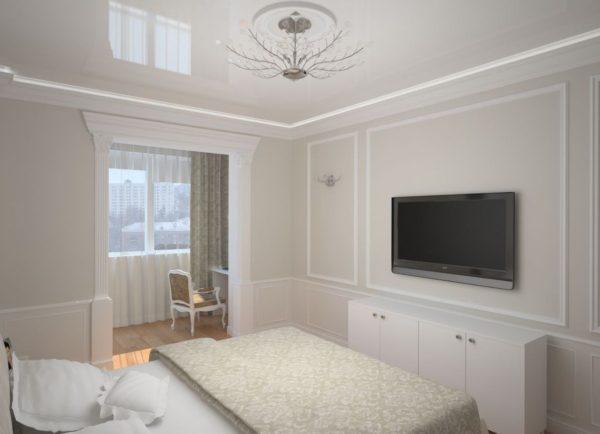 фото интерьера небольшой спальни