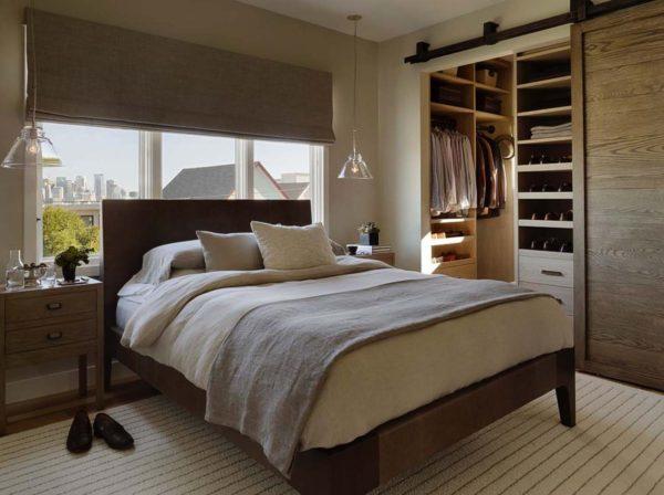 фото интерьера гардеробной в спальне