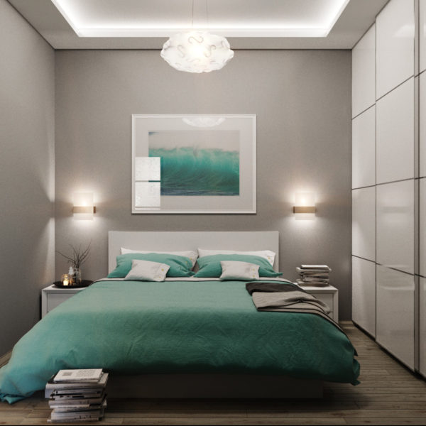 освещение небольшой спальни
