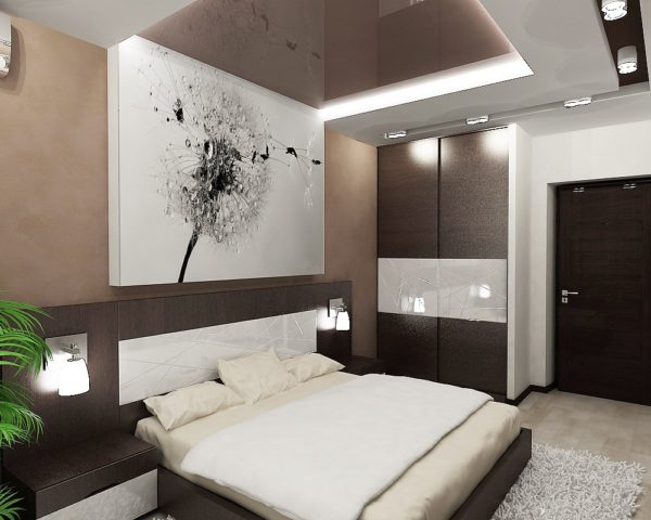 интерьер спальни в хай-тек стиле