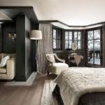 интерьер спальни в хай-тек стиле загородного дома